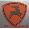 Нашивка на рукав военнослужащих ВВ МВД олень краповый фон