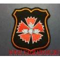 Нарукавный знак военнослужащих ГРУ ГШ ВС РФ для формы чёрного цвета