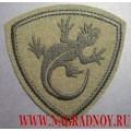 Нашивка на рукав полевая ВВ МВД ящерица