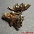 Значок охотничий Голова лося